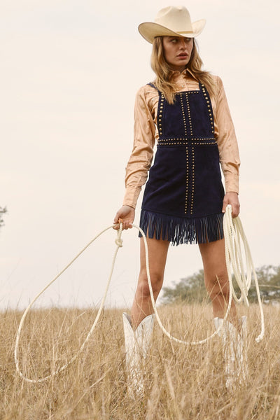 HOLD YOUR HORSES PINAFORE DRESS
