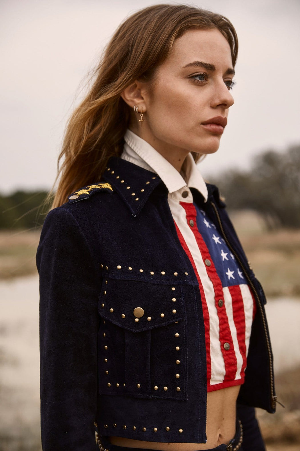 MILITARY STAR CROP JACKET