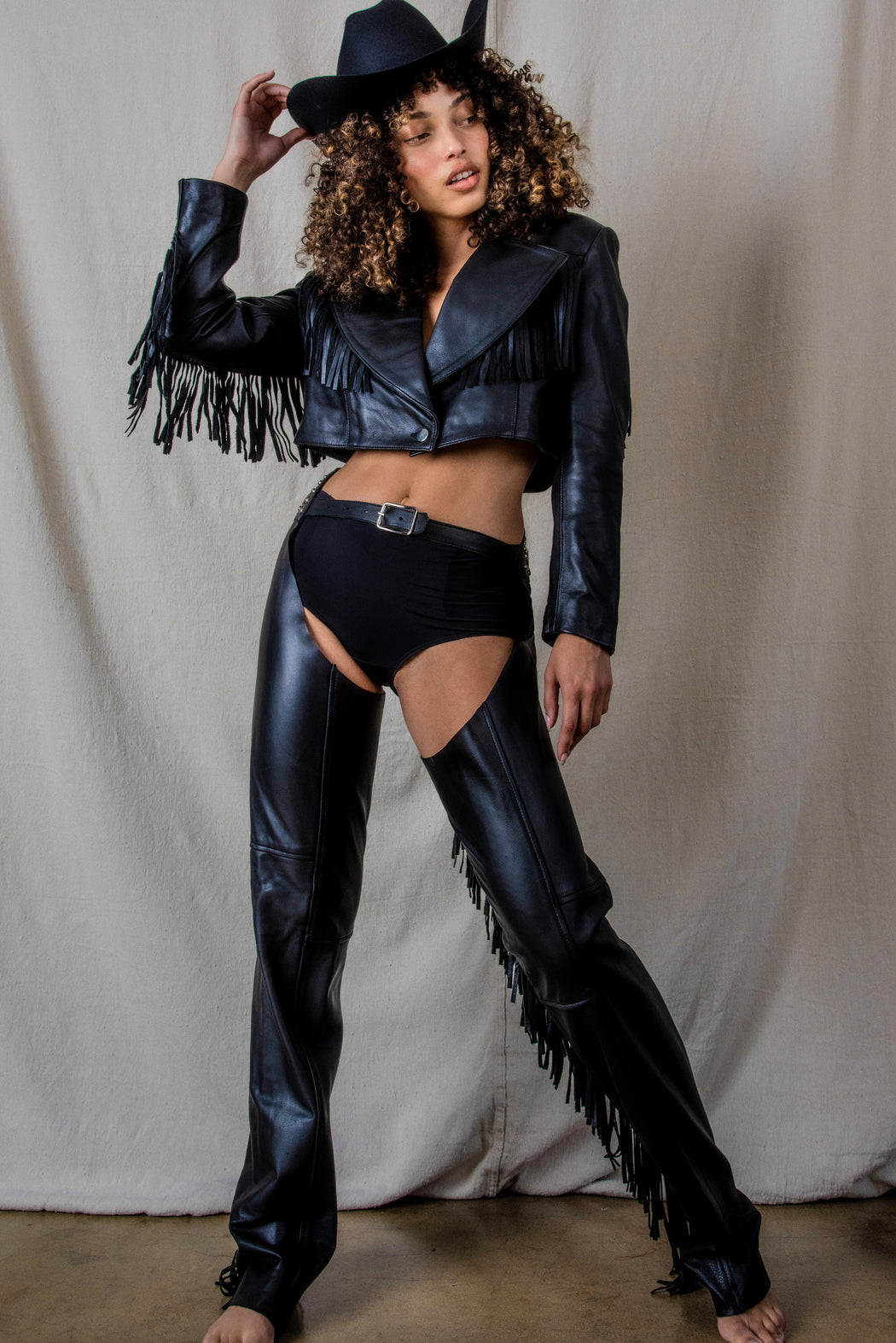 LEATHER PARIS TEXAS CHAPS PANTS