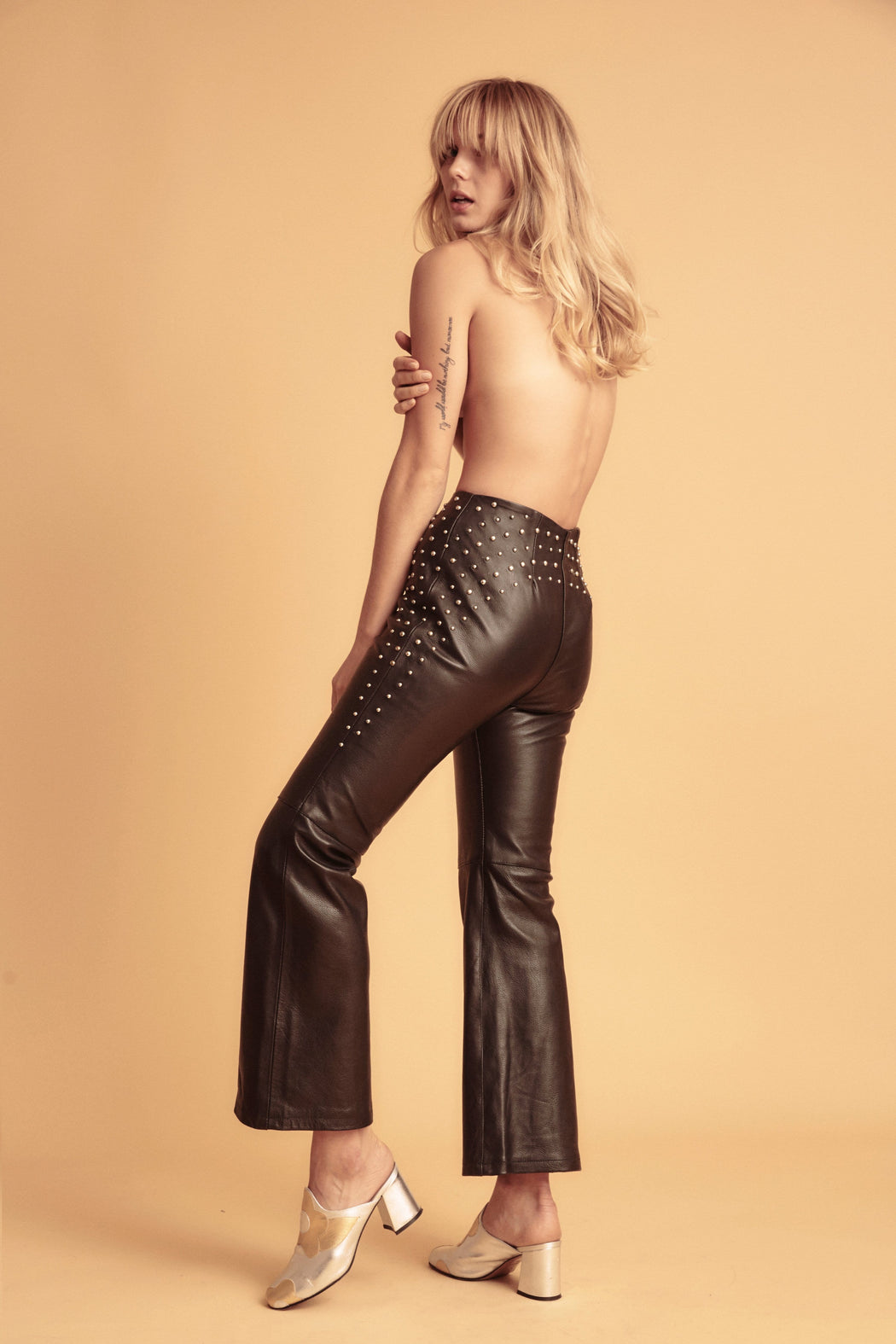 RAISE HELL STUDDED LEATHER PANTS