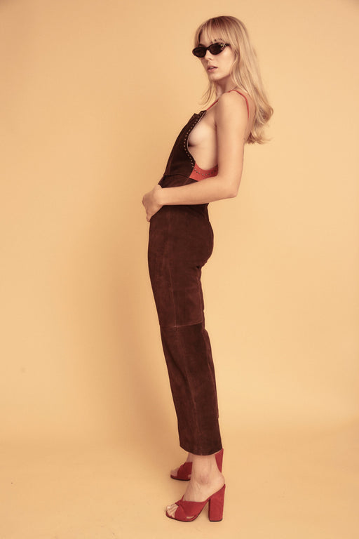BOOT SCOOT SUEDE JUMPSUIT