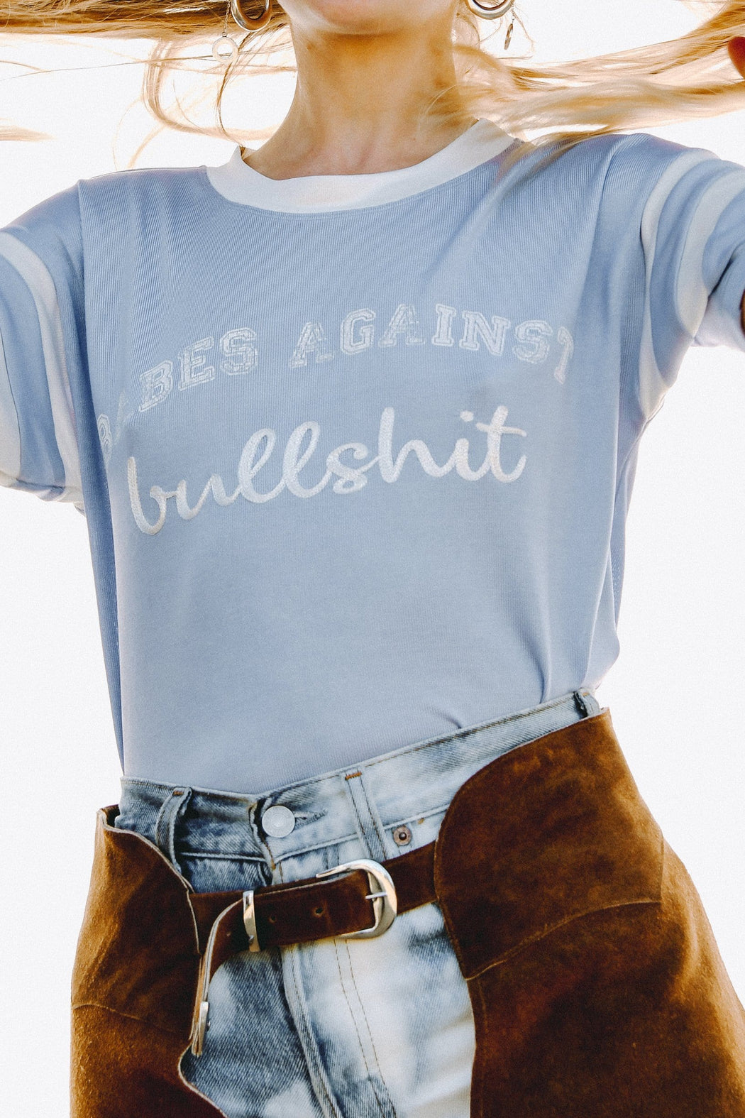 BABES AGAINST BULLSHIT SLINKY TEE