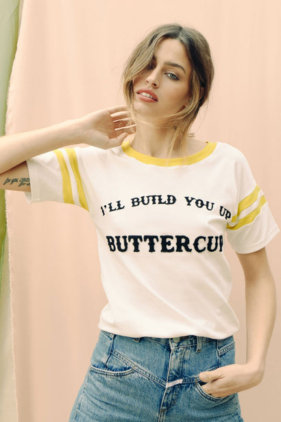 BUMBLE x UNDERSTATED LEATHER 'BUILD YOU UP' TEE