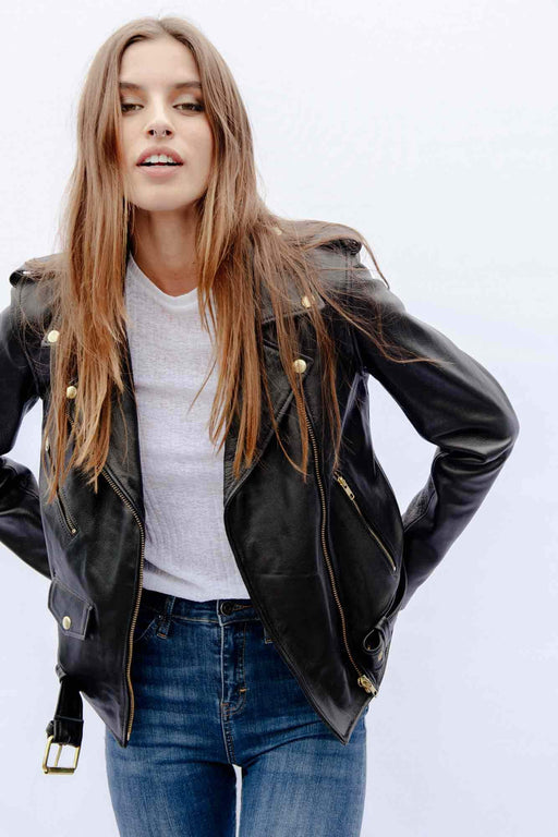 ANTIQUED GOLD EASY RIDER JACKET