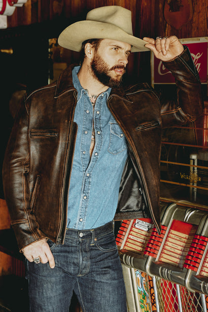 SUNDANCE LEATHER JACKET