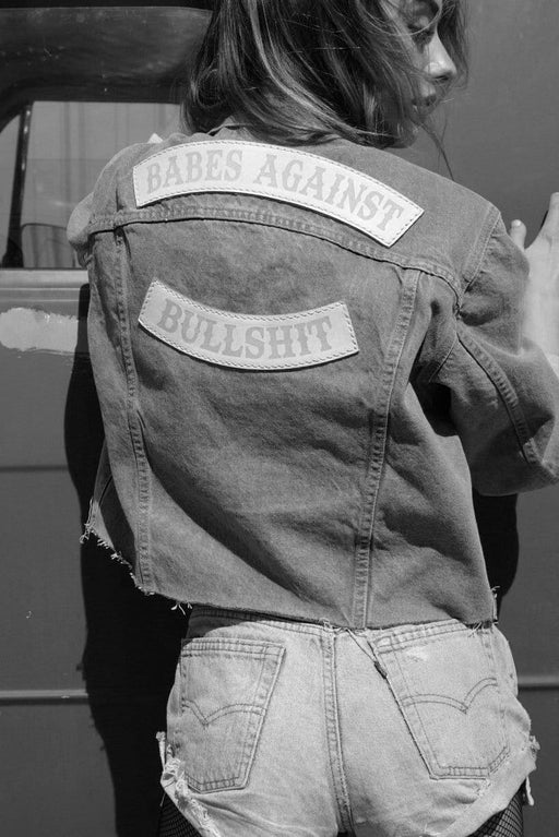 BABES AGAINST BULLSHIT DENIM JACKET