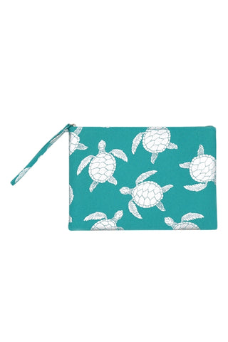 Turquoise Sea Turtle Make Up Bag