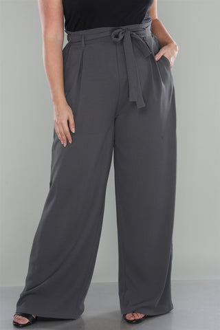 Slate Gray Plus size Pants