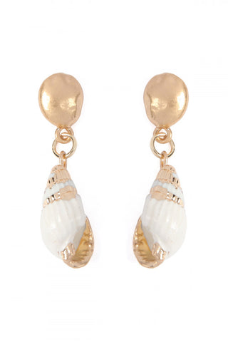 Sea Shell Drop Earrings