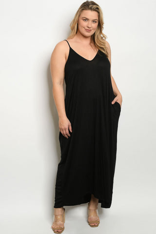 Black Plus Size Maxi Dress Cover Up