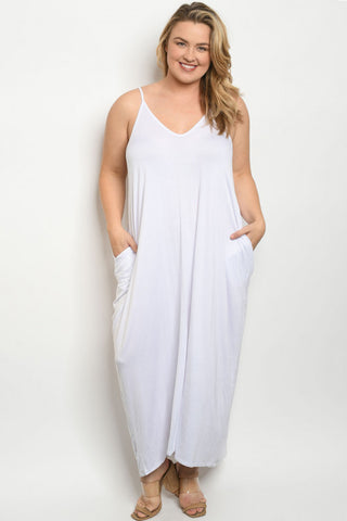 White Plus Size Maxi Dress Cover Up