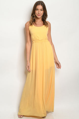 Yellow Strappy Maxi Dress