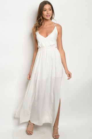 White Strappy Maxi Dress