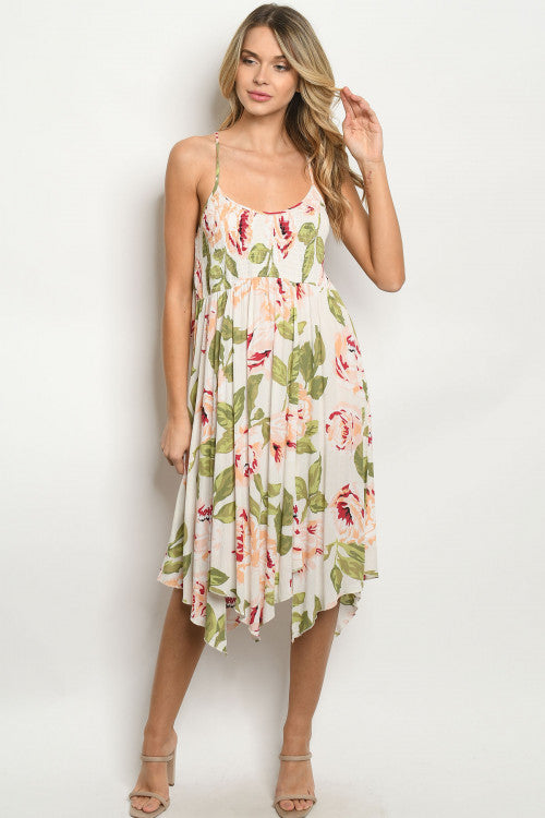 Ivory Floral Sundress
