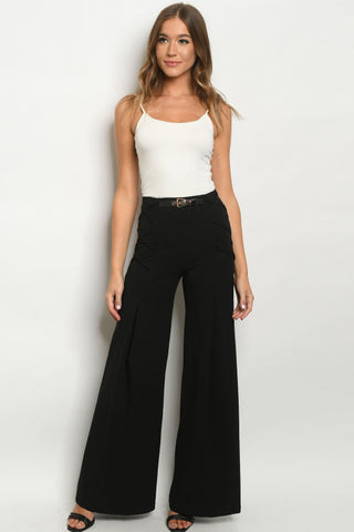 Black Wide Leg Vintage Inspired Pants