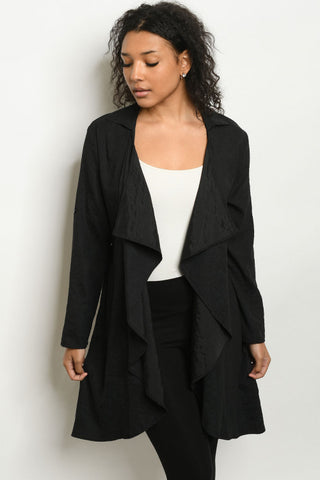 Black Long Sleeve Cardigan Jacket