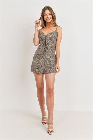 Taupe Animal Print Romper