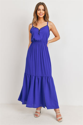 Royal Blue Tiered Maxi Dress