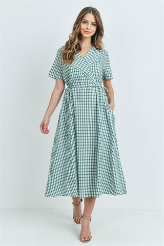 Green Checkered Retro Inspired Dress