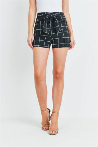 Black and White Checkered Shorts