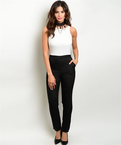 Misses Black and White Jumpsuit Romper