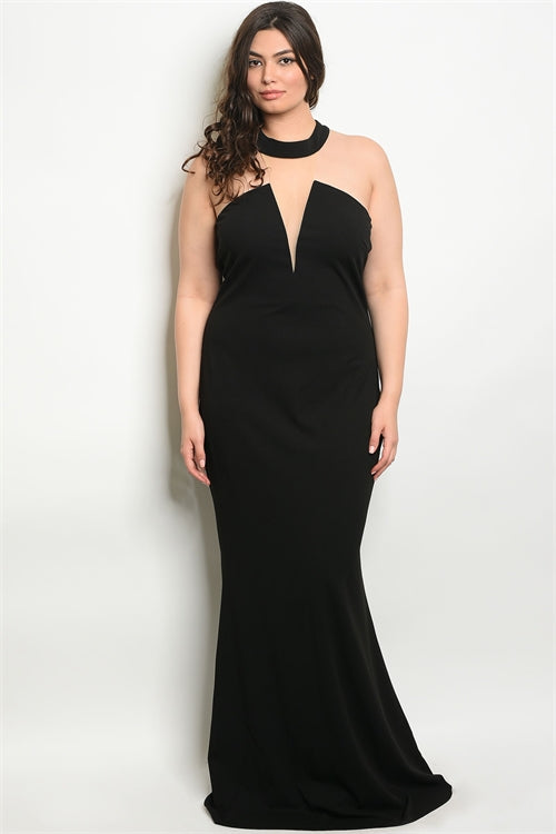 back formal plus size gown