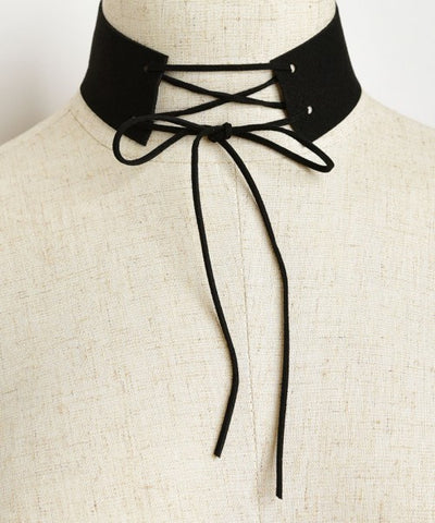 Corset Inspired Suede Choker Necklace