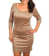 Women's Plus Size Animal Print Body Hugging Dress