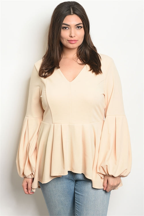 taupe plus size high low top