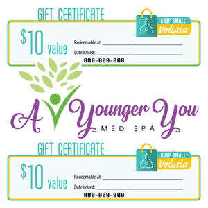 $10 Gift Certificate: A Younger You Med Spa