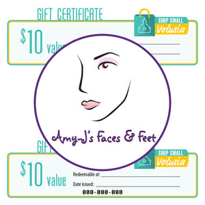 $10 Gift Certificate: Amy-J's Faces & Feet