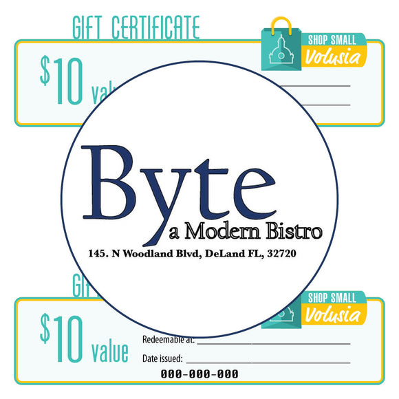 $10 Gift Certificate: Byte - A Modern Bistro