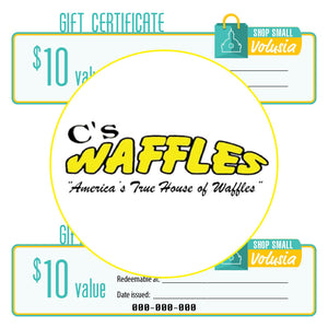$10 Gift Certificate: C's Waffles