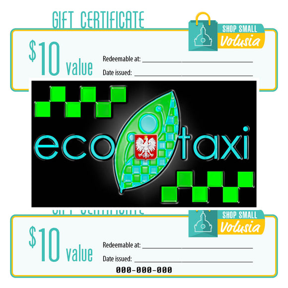 $10 Gift Certificate: Eco Taxi