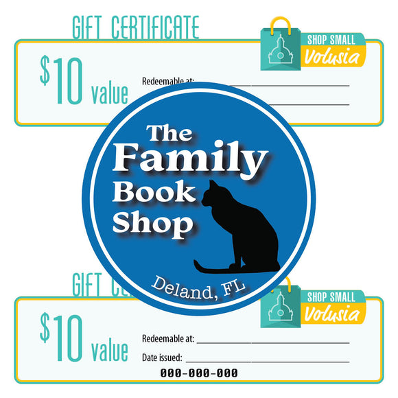 $10 Gift Certificate: The Family Book Shop