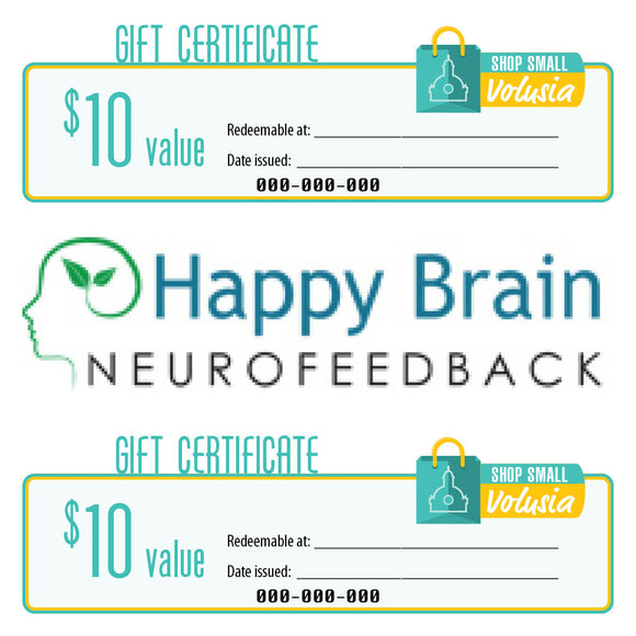 $10 Gift Certificate: Happy Brain Neurofeedback