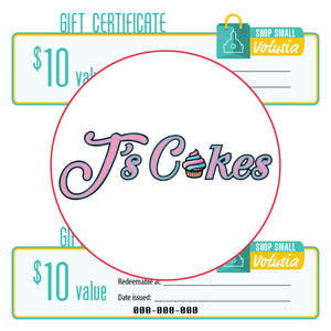 $10 Gift Certificate: J's Cakes