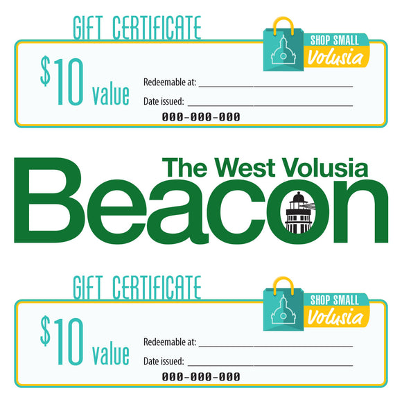 $10 Gift Certificate: West Volusia Beacon