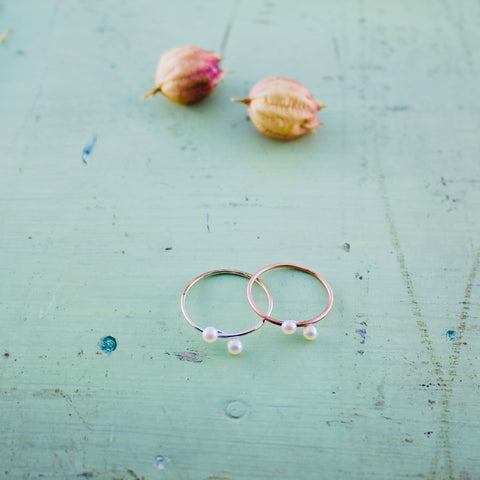 "Ring ""Mini Pearls"""