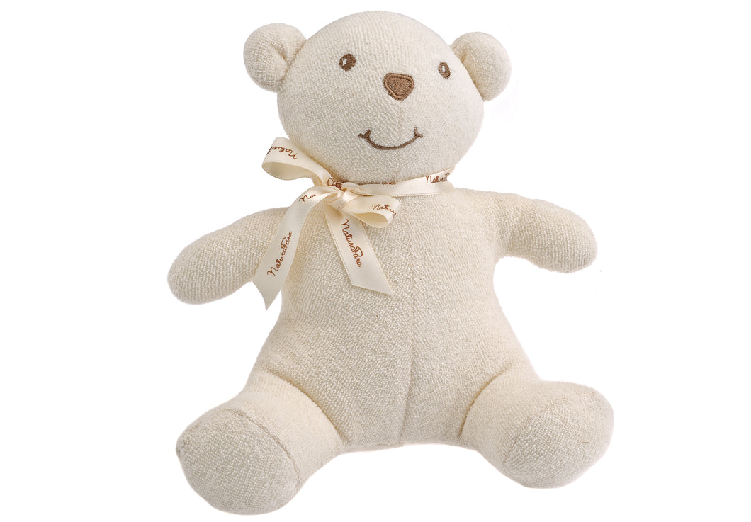 Orsetto NaturaPura / Bear - stuffed toy with 20 cms - HOPLA' PARMA Baby Collections