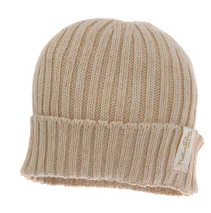 Cuffietta a coste NaturaPura/  Knitted rib cap - HOPLA' PARMA Baby Collections