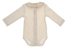 Carica l'immagine nel visualizzatore di Gallery, Body bimba NaturaPura /  Long sleeved bodysuit with ruffled collar - HOPLA' PARMA Baby Collections