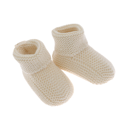 Scarpine in maglia NaturaPura/ Knitted baby booties - HOPLA' PARMA Baby Collections
