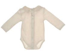 Carica l'immagine nel visualizzatore di Gallery, Body NaturaPura/ Long sleeved bodysuit with ruffled collar - HOPLA' PARMA Baby Collections