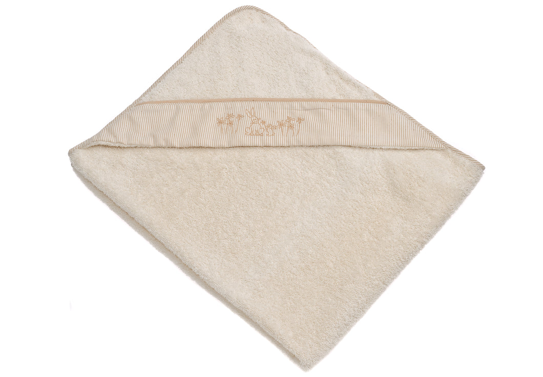 Triangolo /Baby towel with bunnies embroidered - HOPLA' PARMA Baby Collections