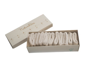 Calzine bouclette NaturaPura / Box with 7 Bouclette quality socks - HOPLA' PARMA Baby Collections
