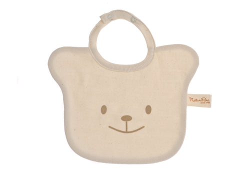 Bavetta NaturaPura/Bear face shaped bib - HOPLA' PARMA Baby Collections