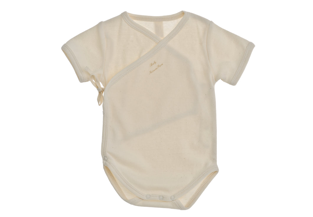 Body nascita incrociato NaturaPura/Basic wraparound bodysuit - HOPLA' PARMA Baby Collections