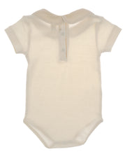 Carica l'immagine nel visualizzatore di Gallery, Body NaturaPura/ Bodysuit with cross stitch collar - HOPLA' PARMA Baby Collections