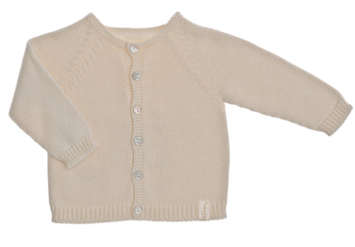 Cardigan NaturaPura / Seamless knitted cardigan - HOPLA' PARMA Baby Collections